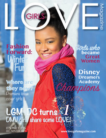Image of a cover for a Washington D.C. LOVE Girls magazine